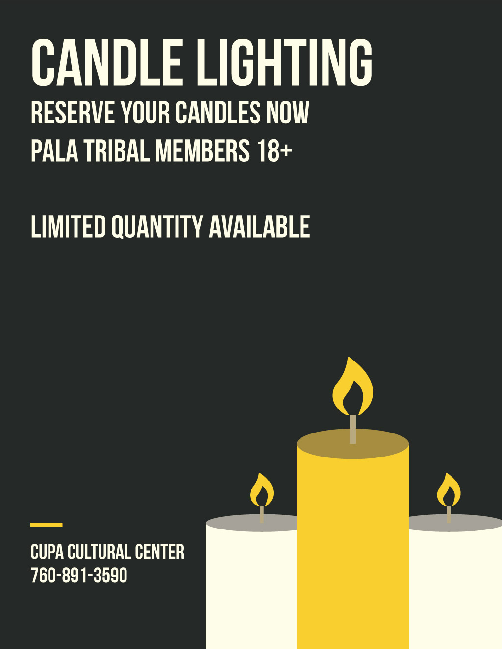 Pala Band of Mission Indians Pala Candle Lighting Cupa Cultural Center